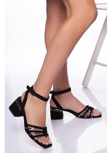 Derithy Derithy-Klasik Topuklu Ayakkabı-Siyah Platin Siyah